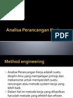 Analisa Perancangan Kerja - Fishbone, FLow chart, Worker and Machine chart