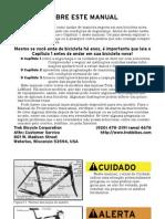 Bike Operation Manual (Portugês 2003) - Trek Bicycle Corporation
