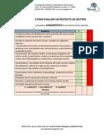 Listas de Cotejo Proyecto de Gestión