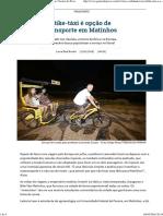 Bike-táxi é Opção de Transporte Em Matinhos _ Verão _ Gazeta Do Povo