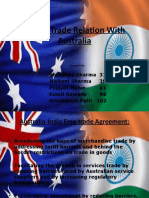 India's Trade Relation With Australia