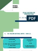 Producción I Evaluación de Proyectos 11 y 12 Agosto 2017