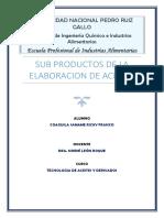 Subproductos de Aceites