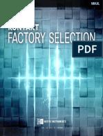Kontakt Factory Selection Manual English