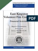 East Kingston Fire Company Audit