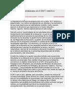La Educación Dominicana en El 2017 (Artículo)