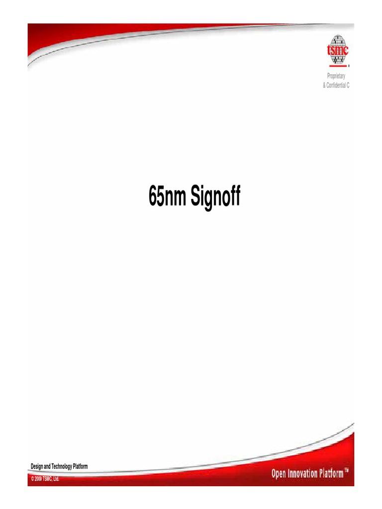 TSMC-65nm_Signoff | Electronic Design | Electronics