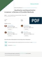 Sintetizando evidencia cualitativa y cuantitativa