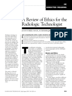 A Review of Ethics for the Radiologic Technologist