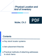 Lec. 4 - Muller Ch.3 - Physical Location & Control of Inventory