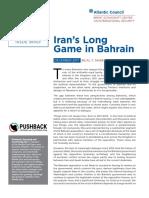 Iran's Long Game in Bahrain