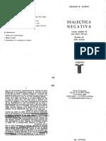 (L) Adorno - Dialectica Negativa Pp.365-368