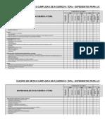 Formato de Control Licenciamiento Con TDRs