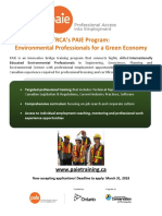 TRCA PAIE Program 2018 Call Out Flyer