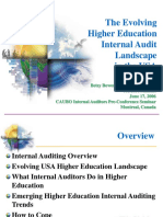 The Evolving Higher Education Internal Audit Landscape in the USA by Betsy Bowers