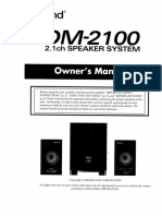 Roland DM-2100 Manual