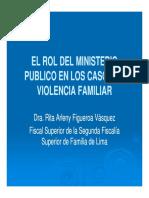 Rol de La Fiscalia Violencia Familiar