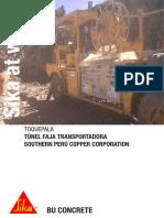 Sika at Work - Tu-nel Faja Transportadora