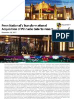 PENN PNK IR Deck Penn National Gaming Acquisition of Pinnacle Entertainment 2017