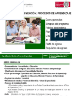 Educacion Mencion Procesos de Aprendizaje Nov 2017