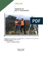 Informe de Trabajo Fotogramétrico y Topográfico Rev.0