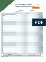 Registro Diario de Asistencia de Inspección