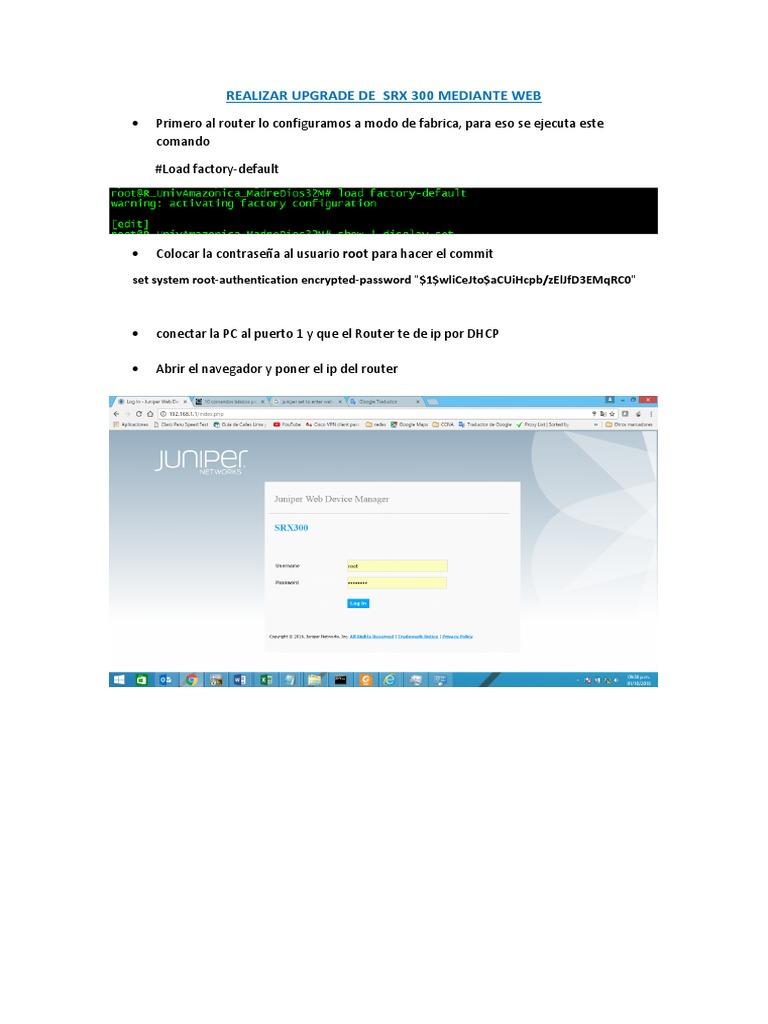 Manual Upgrade Juniper Por Web