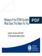 04.26.13 -  Release of the STEMI Guidelines_de Lemos