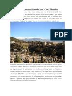 15 Cosas Que Ver y Hacer en Granada