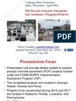 Tayabji - ACI Milwaukee -FHWA-SHRP2 Precast Pavement IAP Projects - 041616