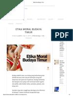 Etika Moral Budaya Timur
