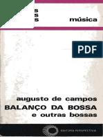 Augusto de Campos-Livro Balanco Da Bossa