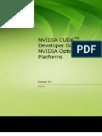 CUDA Developer Guide for Optimus Platforms