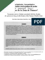 Reconocimiento Taxonómico de Plantas Asociadas Con La Palma Aceitera