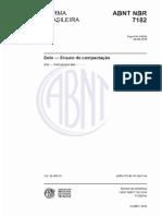 NBR 7182 - 2016 - Solo - Ensaio de Compactação