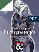Bard College - College of the Bladedancer