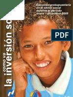 Como va la Inversión social en ecuador de Enero a Diciembre del 2009