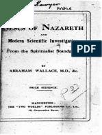 1920 Wallace Jesus of Nazareth and Modern Scientific Investigation 2ed