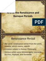 Arts of the Renaissance and Baroque Periods