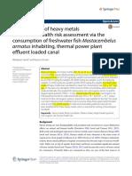 Accumulation of Heavy Metals (1)