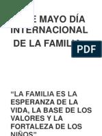 15 de Mayo Día Internacional