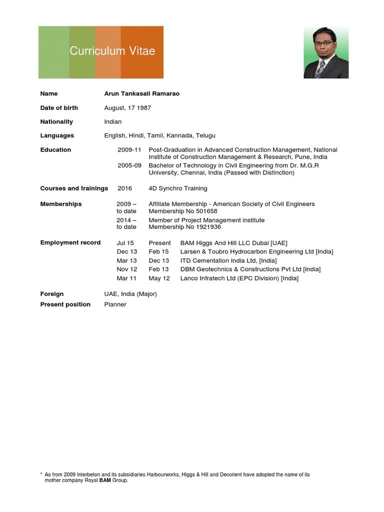 Arun Tankasali CV   Technology   Engineering