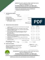 Form Inspeksi Sanitasi SAB