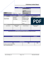 HSE-000-For-0005 Preliminary Incident Report Form