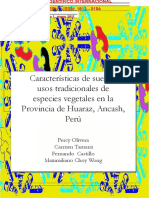 Características del suelo y usos tradicionales de especies vegetales en la provincia de Huaraz