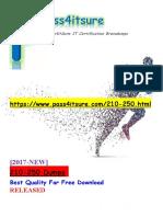 New Pass4itsure Cisco 210-250 Dumps PDF