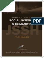 JSSH Vol. 22 (1) Mar. 2014 (View Full Journal)
