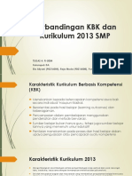 Perbandingan KBK Dan Kurikulum 2013 SMP
