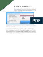 Activar Teclado Virtual en Windows 8 u 8