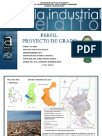 Perfil de Grado Escuela Industrial El Alto 2014
